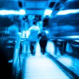 City passenger on elevator Royalty Free Stock Image