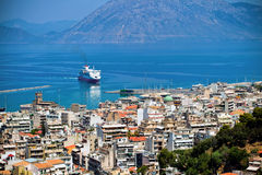The city Patra, Greece Stock Image