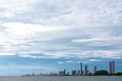 City in Pattaya coast Royalty Free Stock Photo