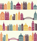 City pattern royalty free illustration