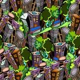 City pattern. City seamless pattern, vector image Royalty Free Illustration