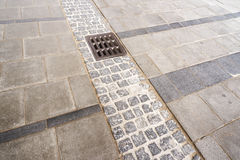 City pavement drain Stock Photography