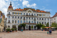 City Pecs of Hungary. The county hall. 18. august2016 royalty free stock photo