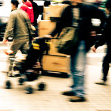 City pedestrian people on road Royalty Free Stock Photography