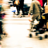 City pedestrian people on road Stock Photo
