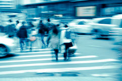 City pedestrian people on road Royalty Free Stock Photos