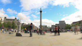 City Pedestrian Traffic Time Lapse London Fisheye Zoom stock footage
