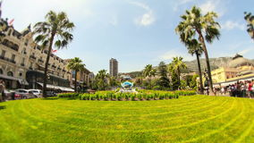 City Pedestrian Traffic Time Lapse Monaco Fisheye stock footage