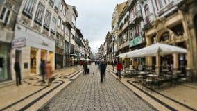 City Pedestrian Traffic Time Lapse Porto stock video footage