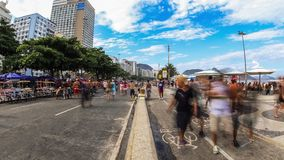 City Pedestrian Traffic Time Lapse Rio Zoom stock video footage