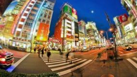 City Pedestrian Traffic Time Lapse Tokyo Shinjuku stock video footage