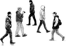 City pedestrians Royalty Free Stock Image