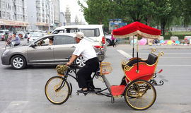 city pedicab driver Royalty Free Stock Photo