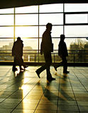 City people 1. City people walking in a futuristic tunnel Royalty Free Stock Images