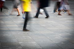City people. Walking on piazza in motion blur Royalty Free Stock Photo