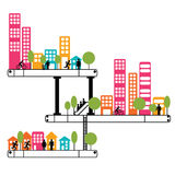 City. People living in a city. Urban style Royalty Free Stock Image