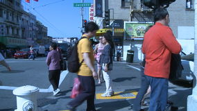 City People on the Move - Time Lapse stock footage