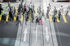 City people rush hour. City people living in rush Royalty Free Stock Image
