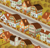 City in perspective (autumn) Royalty Free Stock Image