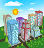City in perspective Stock Images