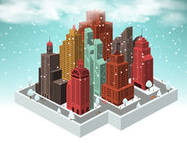City in perspective (winter) Stock Photography