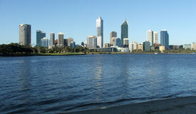 City-Perth Day. City of Perth viewed accross the Swan River royalty free stock photos
