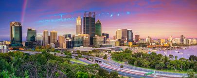 City of Perth. Royalty Free Stock Photo