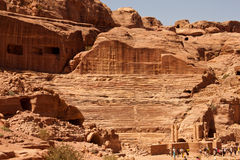 City of Petra. Ancient ruins of the City of Petra in Jordan Royalty Free Stock Photos