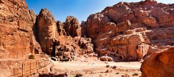City of Petra Jordan. Panoramic city of Petra Jordan Royalty Free Stock Photo