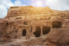 The city of Petra was lost for over 1000 years. Now one of the Seven Wonders of the Word Stock Photos