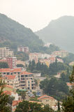 City Petrovac among Montenegrin mountains Stock Images