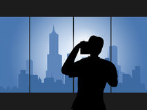 City Photographer Indicates Metropolis Buildings And Pictures Royalty Free Stock Photography