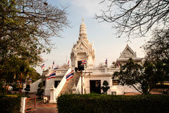The city pillar in Ayutthaya Historical Park,Thailand. Stock Photography