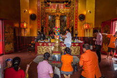 City Pillar  Shrine of Juntaburi Stock Photo