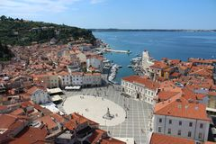City of Piran Pirano Royalty Free Stock Images