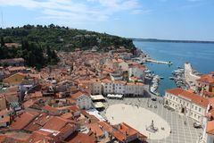 City of Piran Pirano Stock Image