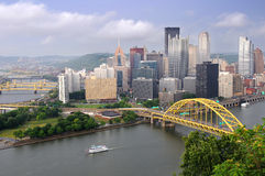 City of Pittsburgh during late afternoon Stock Image