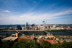 The city of Pittsburgh. Looking down on the city of Pittsburgh Royalty Free Stock Images
