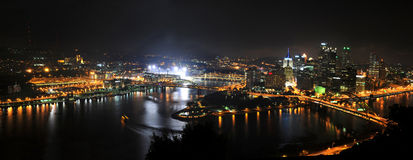City of Pittsburgh at Night Royalty Free Stock Photos