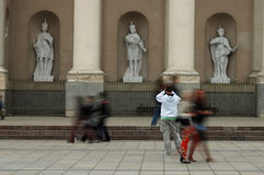 City place. Vilnius city central cathedral place royalty free stock photos