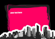 City with place for text. Vect Royalty Free Stock Images