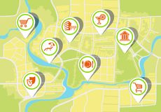 The city plan Άνευ ραφής ανασκόπηση Διανυσματική απεικόνιση