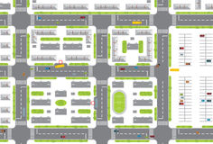 City plan Stock Photos