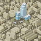 City plan isometric Stock Photos