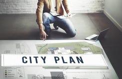 City Plan Municipality Community Town Management Concept Stock Image