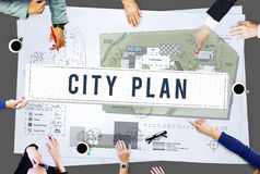 City Plan Municipality Community Town Management Concept Royalty Free Stock Photo