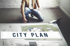 City Plan Municipality Community Town Management Concept Royalty Free Stock Image