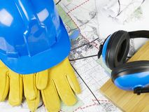 City plans and tools Royalty Free Stock Images