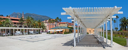 City plaza. Menton, France. Royalty Free Stock Photo