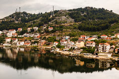 City of Ploce near Dubrovnik, Dalmatia Royalty Free Stock Images